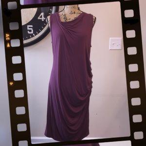 SIMPLY VERA WANG Draped Ruched Asymmetrical Dress